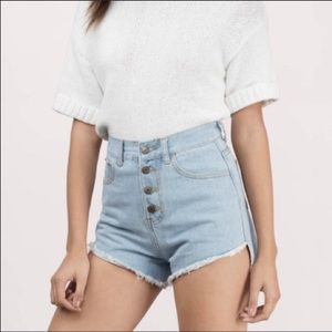 NWT Anthropologie High rise shorts